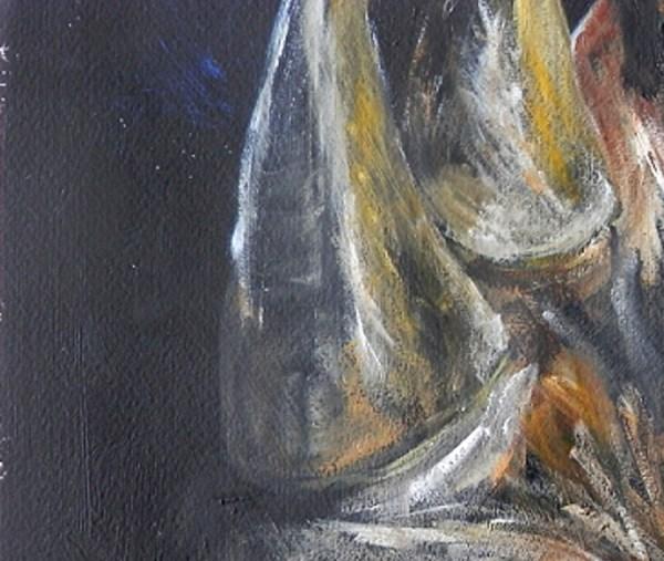 black rhino painting, yellow art, endangered species
