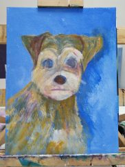 Pet portrait - work in progress 2