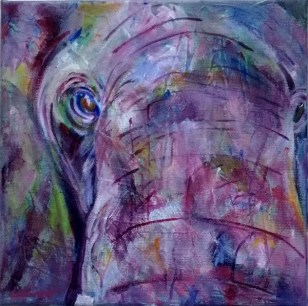 Up Close - Elephant Painting