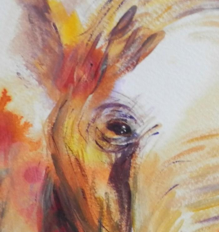 African elephant art print, abstract animal art