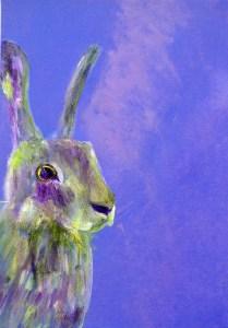 Gorgeous purple hare print