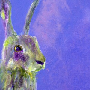 Gorgeous purple hare print