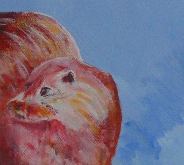 blue and red otter print, river wildlife art, animal lover home decor