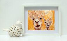 golden yellow alpaca wall art