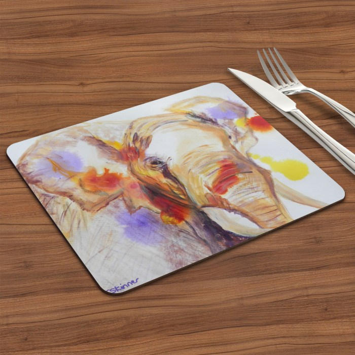 African elephant placemat