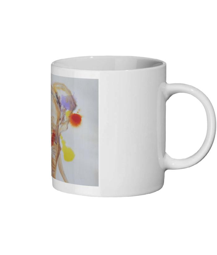 colourful elephant mug, wildlife mug, animal lover gift, ceramic animal mug