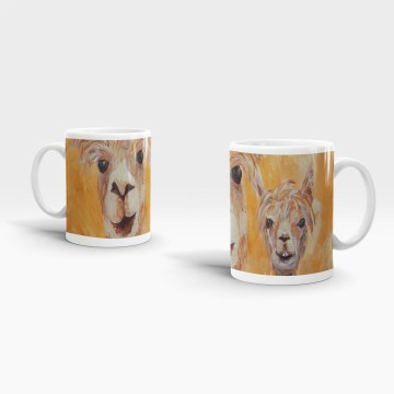 Cute alpacas mug for a happy couple