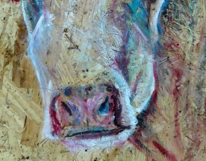 Cattle print, modern cow art, farm animal art print, farmyard decor