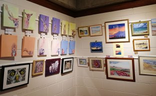 Denbies Wine Estate, art exhibition, Caroline Skinner Art, mezzanine art exhibition, First Steps Art