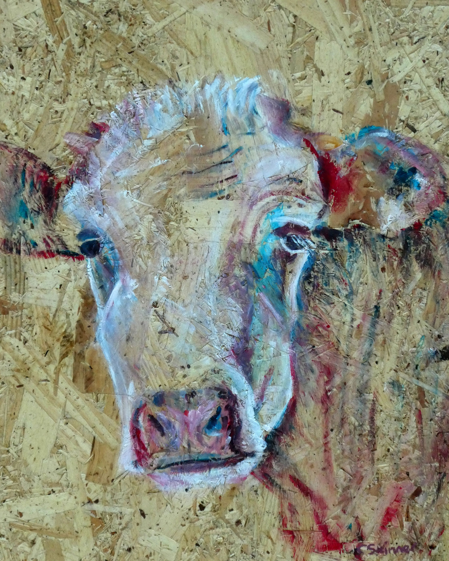 087a922cc82af Country Cow Acrylic Painting | Caroline Skinner Art