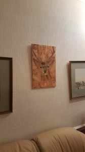 Stag painting in its new home