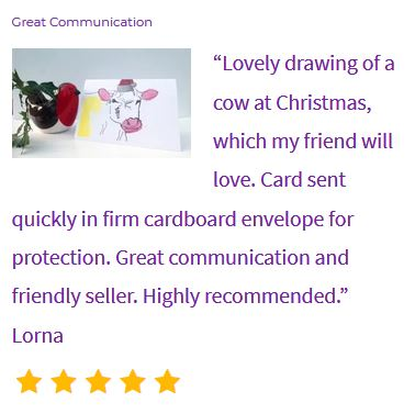 Review of Cow Christmas card
