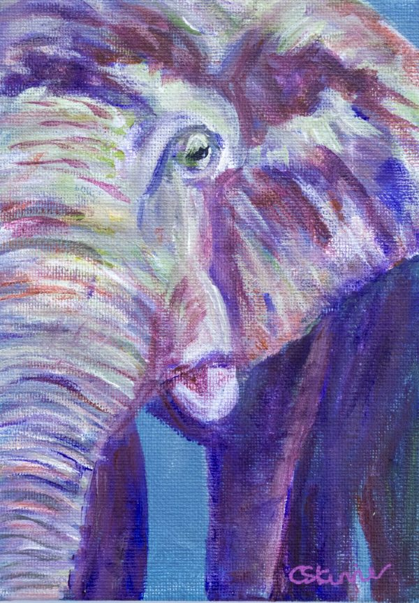 small elephant painting