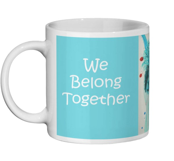 """We Belong Together"" Alpaca Mug Gift"