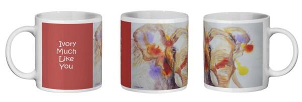 red elephant kitchenware mug