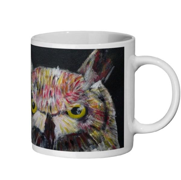 Funny owl mug