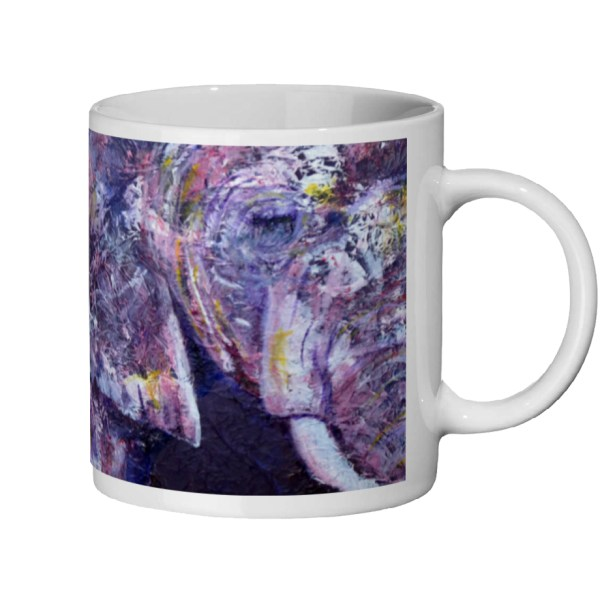 pun on an elephant mug
