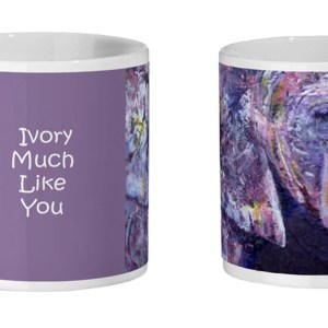 Purple elephant mug for coffee drinkers