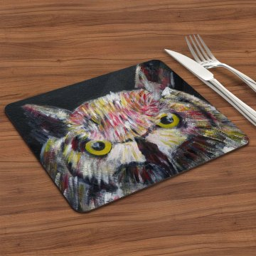 Colourful owl placemat