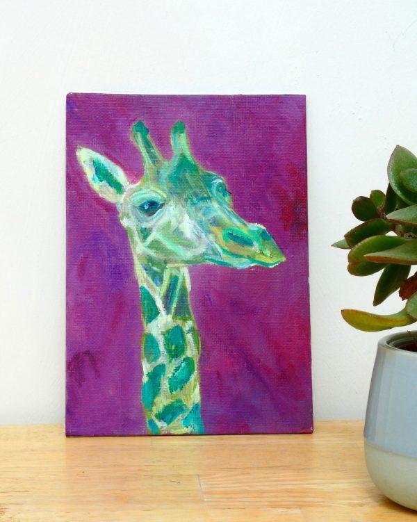 Cheerful giraffe artwork