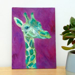 Cheerful giraffe artwork