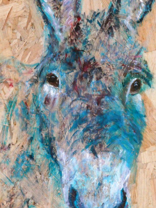 Happy Donkey by Caroline Skinner Art