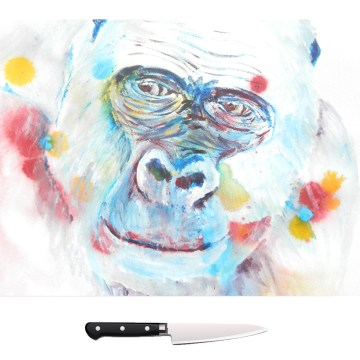 Blue gorilla chopping board