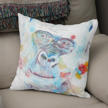 Blue gorilla cushion
