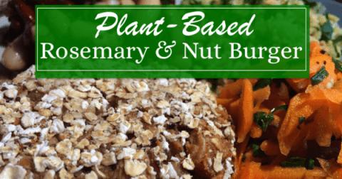 Plant Based Rosemary & Nut Burger