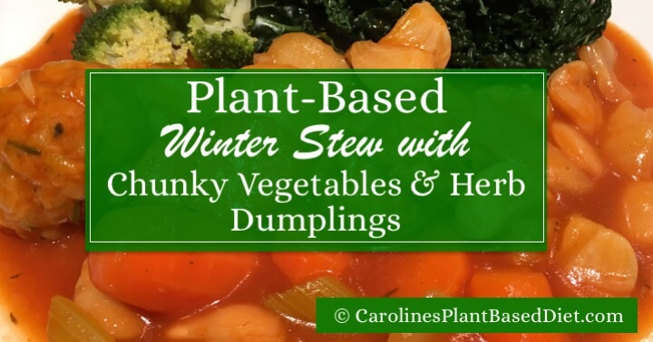 Plant-Based Winter Stew with Chunky Vegetables & Herb Dumplings