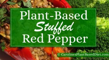 Plant-Based Stuffed Red Pepper
