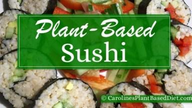 Plant-Based Sushi Roll