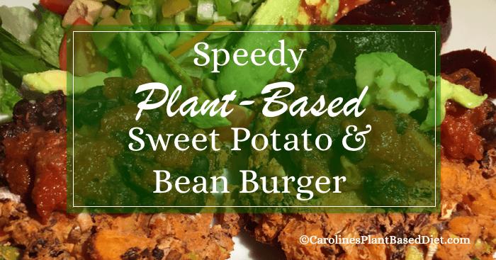 Speedy Plant-Based Sweet Potato and Bean Burgers