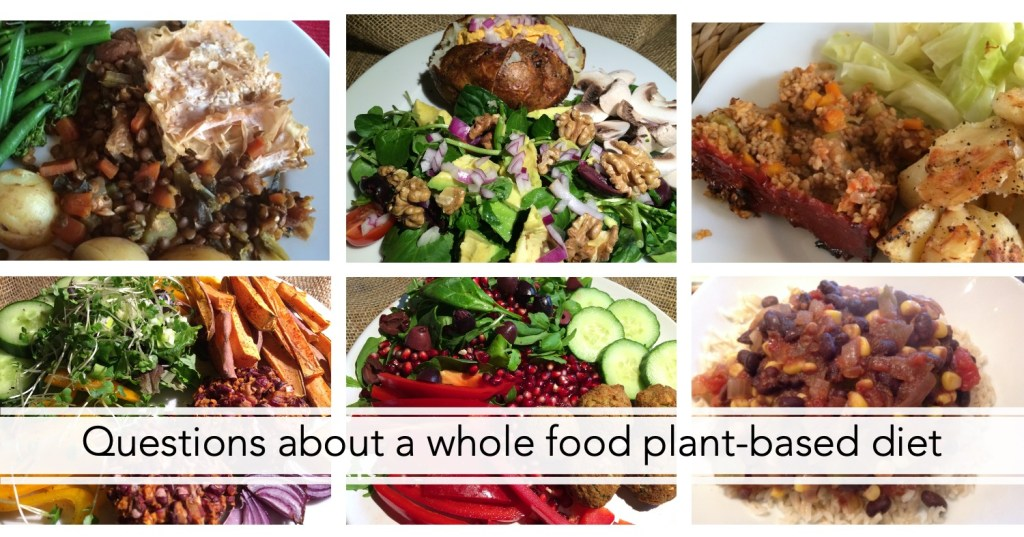 Questions about a whole food plant-based diet