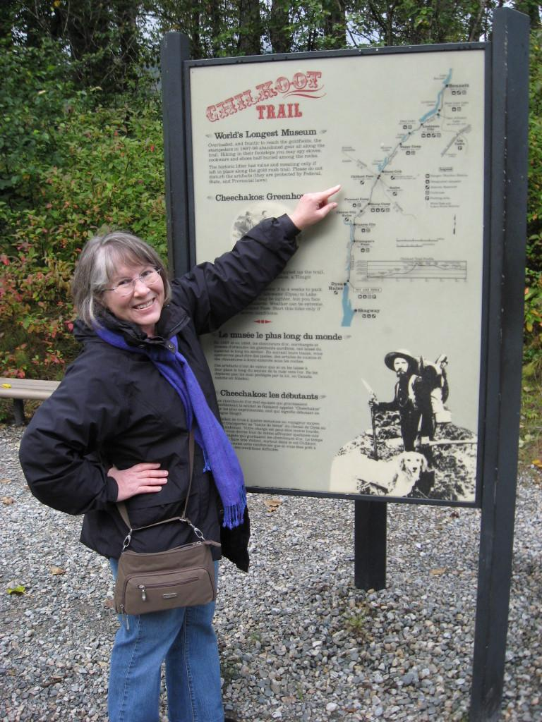Chilkoot trail sign Carole Dagg