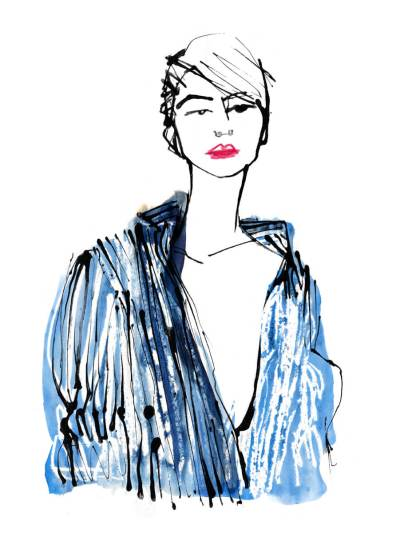 Lock Down Looks Fashion Illustration