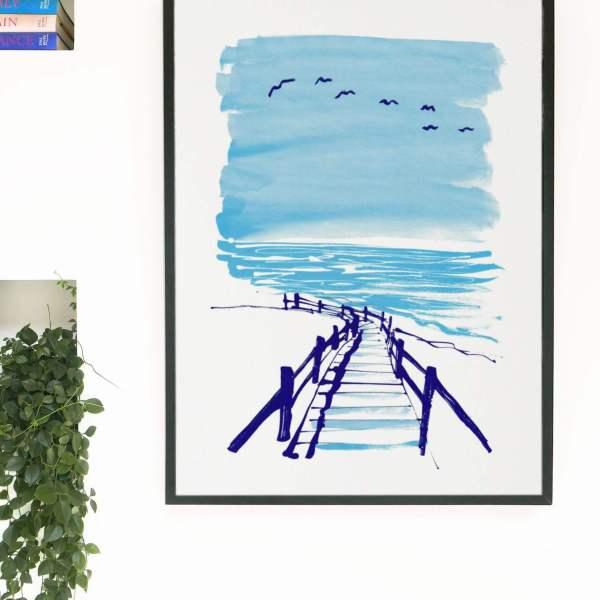 Endless Summer Coast Silkscreen Print