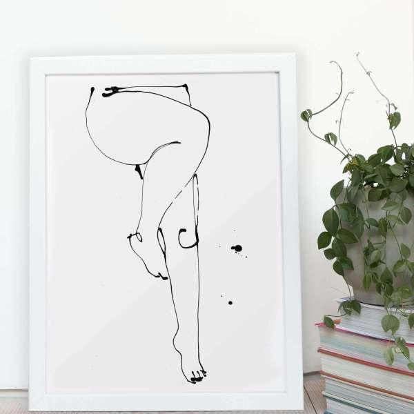 Undress Illustration - Legs - Giclee Print