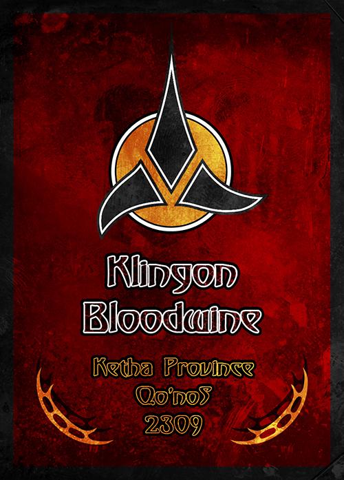 klingon bloodwine label caroline