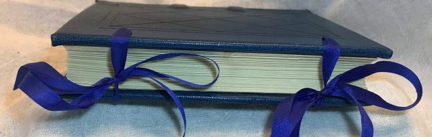 Sewn On Cord Hardbound Book With Integrated Silk Ties by Isabel del Okes