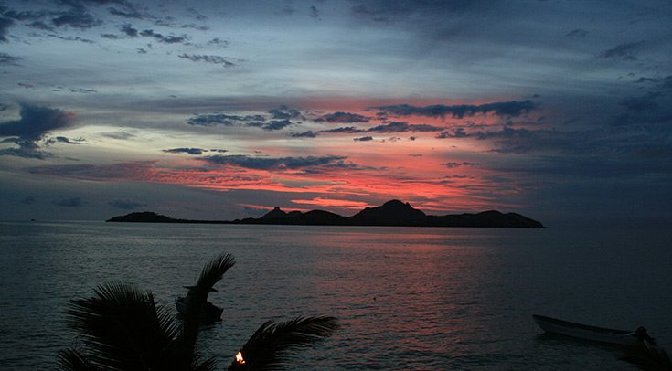 enjoy incredible South Pacific sunsets when you charter a yacht with Carol Kent Yacht Charters