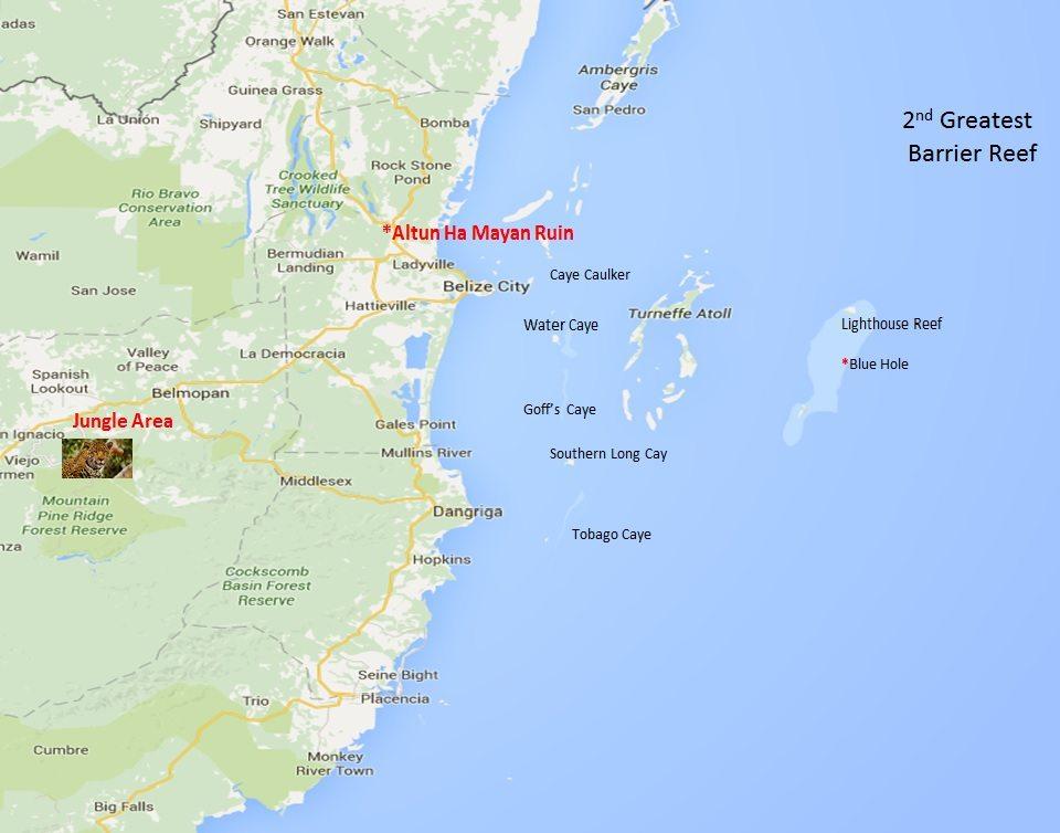 Belize Cruising Itinerary