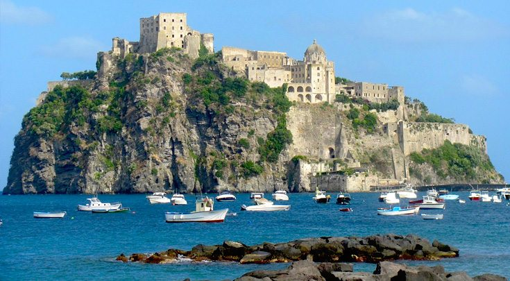 The island of Ischia in the Bay of Naples, Italy