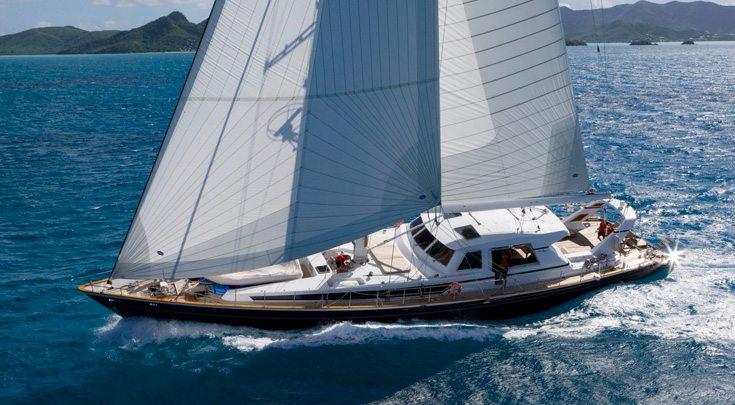115ft Valdettaro Shipyard sailing yacht REE at sea