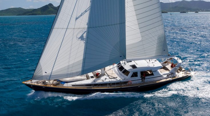 115ft Valdettaro Shipyard sailing yacht REE at sea