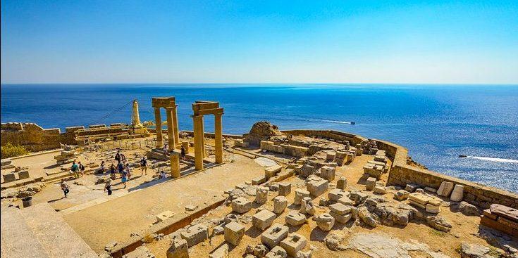 Greek ruins overlooking the Ionian Sea