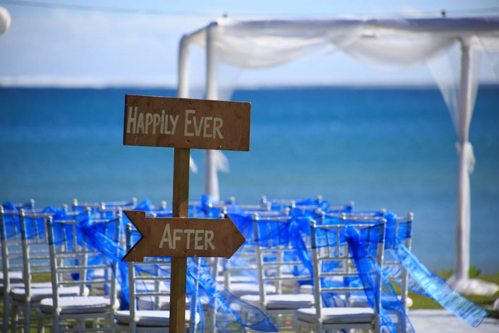 Fiji beach wedding
