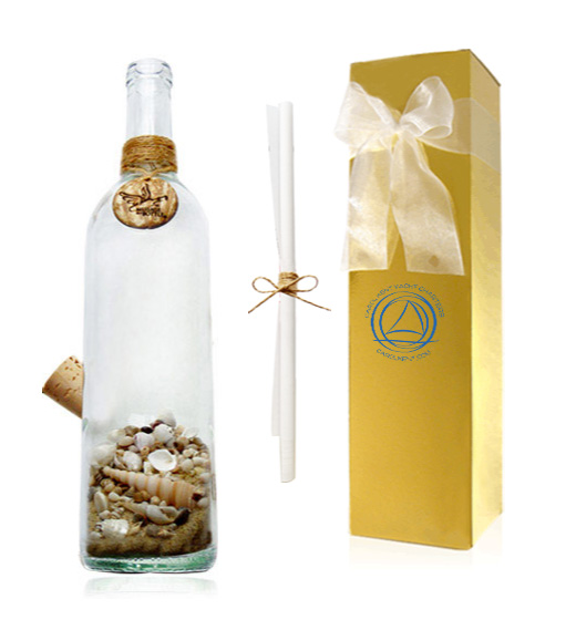 Message in a Bottle gift certificate package