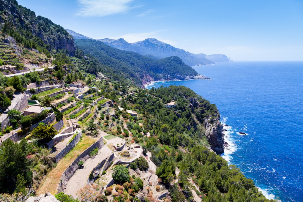 Tramuntana Mountain Range in Majorca North Coast from Verger Viewpoint