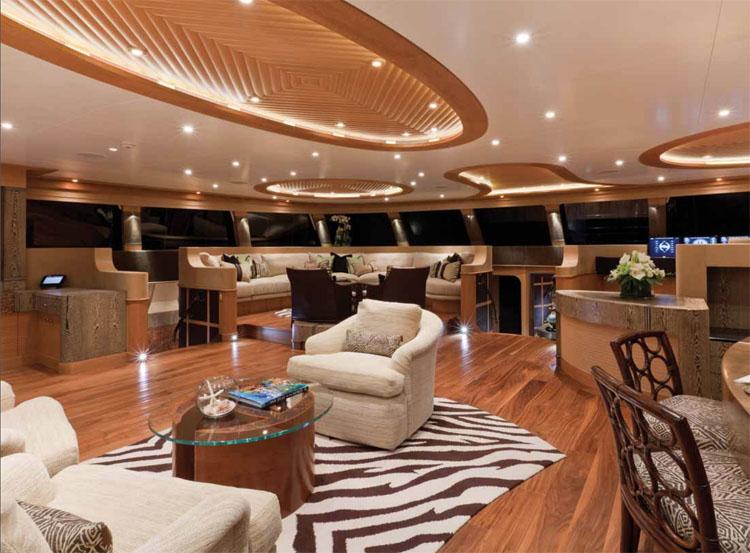 Luxurious saloon on the world's largest sailing catamaran, HEMISPHERE